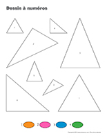 Dessin à Numéros-Le triangle