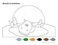 Dessin à Numéros-Les hippopotames