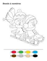 Dessin à Numéros-Les vacances de Noël