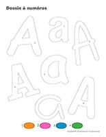 Dessin à Numéros-Lettre A