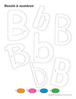 Dessin à Numéros-Lettre B