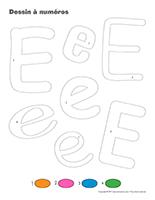 Dessin à Numéros-Lettre E
