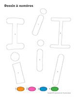Dessin à Numéros-Lettre I