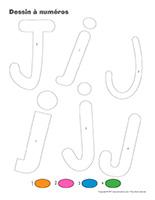 Dessin à Numéros-Lettre J