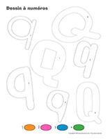 Dessin à Numéros-Lettre Q