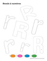 Dessin à Numéros-Lettre R