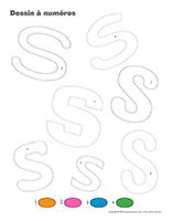 Dessin à Numéros-Lettre S