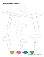 Dessin à Numéros-Lettre T
