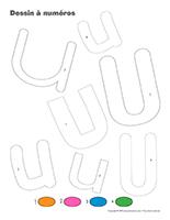 Dessin à Numéros-Lettre U