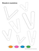 Dessin à Numéros-Lettre V