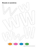 Dessin à Numéros-Lettre W