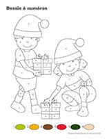 Dessin à Numéros-Noël des campeurs
