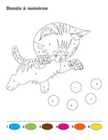 Dessin à Numéros-les chats et les chatons