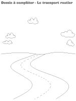 Dessin à compléter-Le transport routier