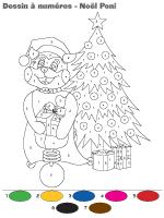 Dessin à numéros - Noël - Poni