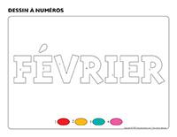 Dessin à numéros-Activité-projet-Février