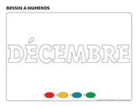 Dessin à numéros-Activité-projet-décembre
