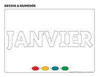Dessin à numéros-Activité-projet-janvier