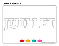Dessin à numéros-Activité-projet-juillet
