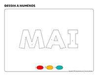 Dessin à numéros-Activité-projet-mai