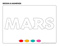 Dessin à numéros-Activité-projet-mars