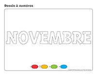 Dessin à numéros-Activité-projet-novembre