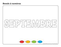 Dessin à numéros-Activité-projet-septembre
