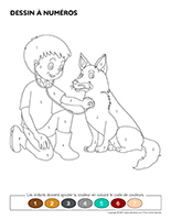 Dessin à numéros-Animaux domestiques