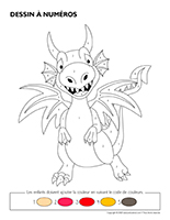 Dessin à numéros-Dragons