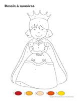 Dessin à numéros-Fête de la Reine