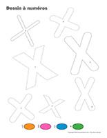 Dessin à numéros-Lettre X