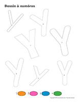 Dessin à numéros-Lettre Y