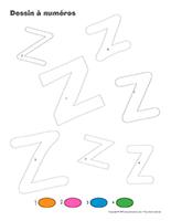 Dessin à numéros-Lettre Z