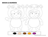 Dessin à numéros-Pandas