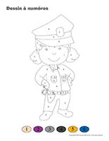 Dessin à numéros-Policiers-Policières
