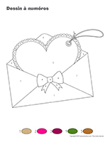 Dessin à numéros-Saint-Valentin-Lettres d'amour