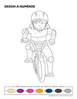 Dessin à numéros-Vélos et tricycles