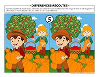 Différences-Récoltes