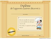 Diplôme - Apprenti cuisinier