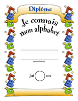 Diplôme - Je connais mon alphabet
