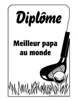 Diplôme - Meilleur papa - 2