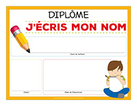 Diplôme-J'écris mon nom