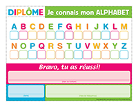 Diplôme alphabet