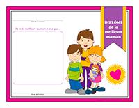 Diplôme interactif-La meilleure maman