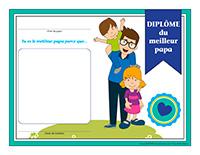 Diplôme interactif-Le meilleur papa