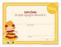 Diplômes-Je parle espagnol