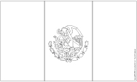 Drapeau du Mexique noir et blanc