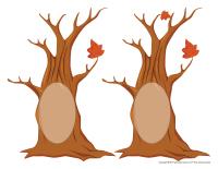 Écureuils dans les arbres