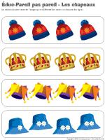 Éduc-Pareil pas pareil - Les chapeaux