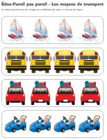 Éduc-Pareil pas pareil - Les moyens de transport